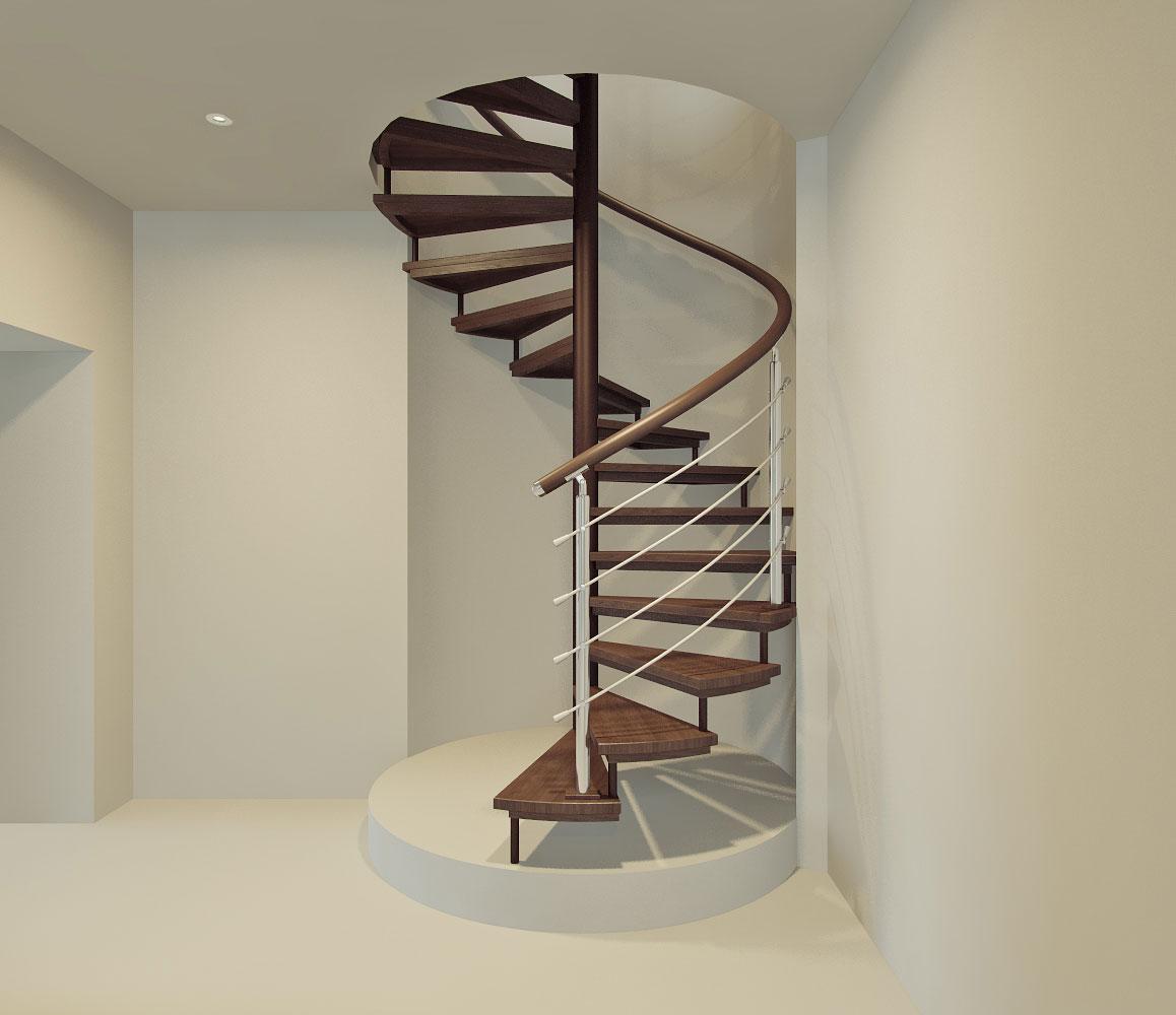 Винтовая лестница на второй этаж своими руками