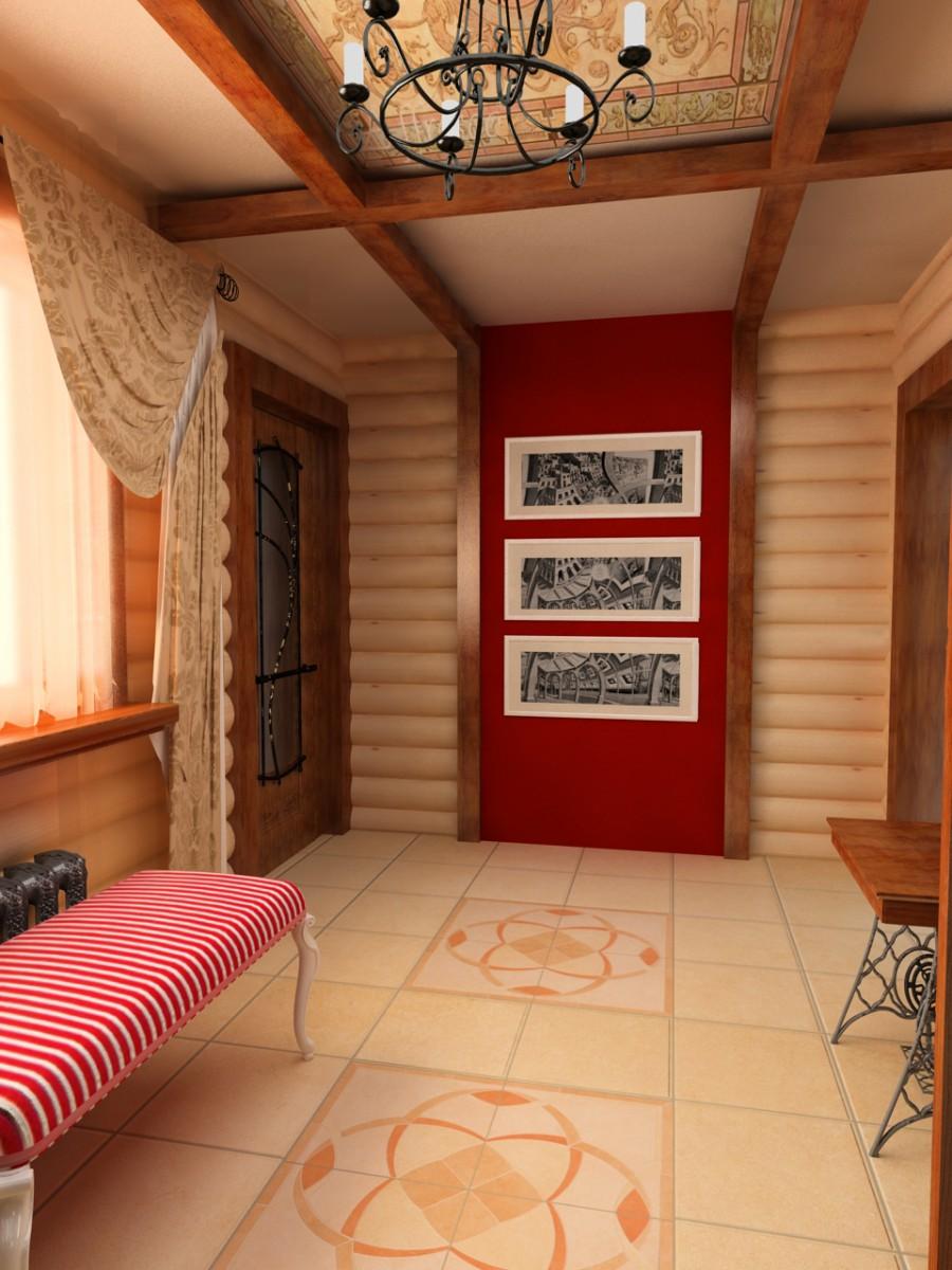 Интерьеры прихожих в деревянном доме