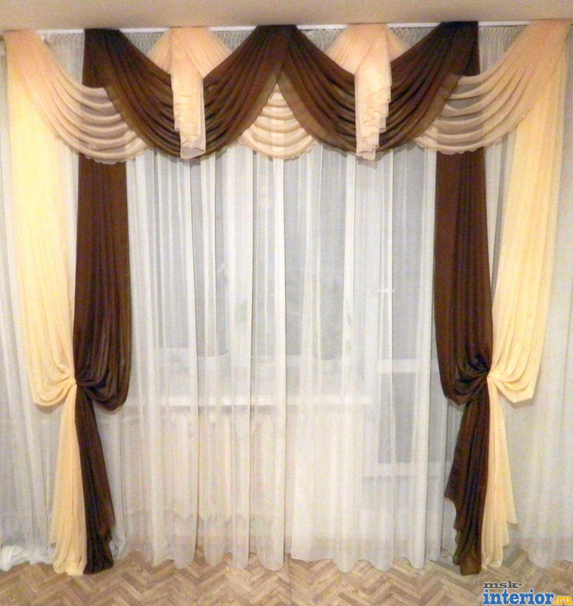 Фото дизайн штор и тюль в спальню