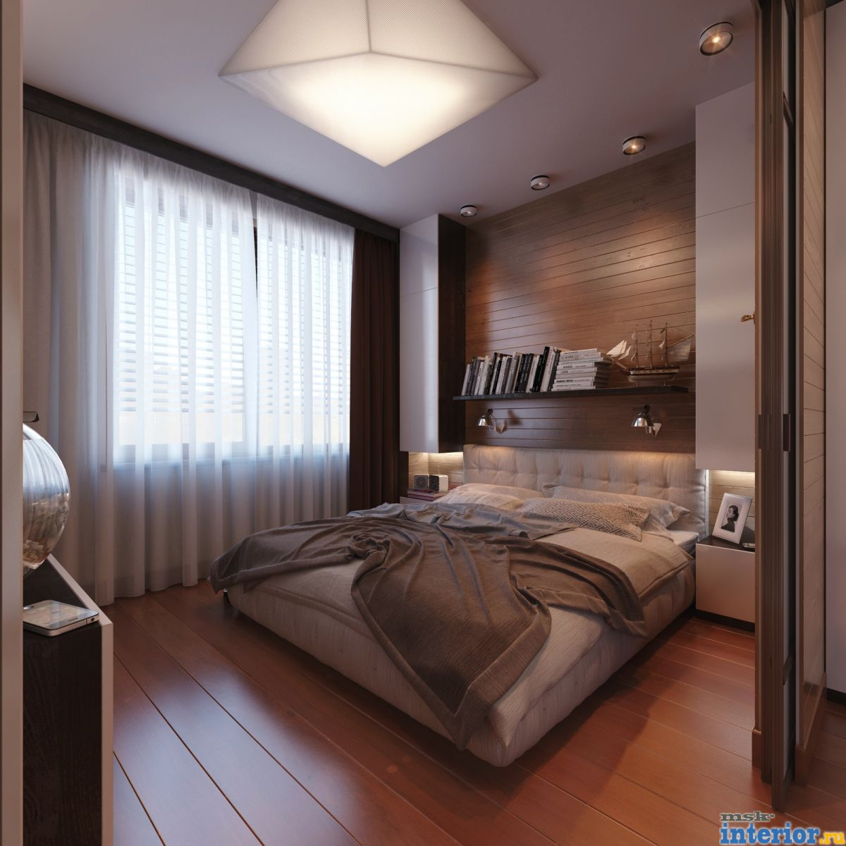 Маленькая мужская спальня дизайн