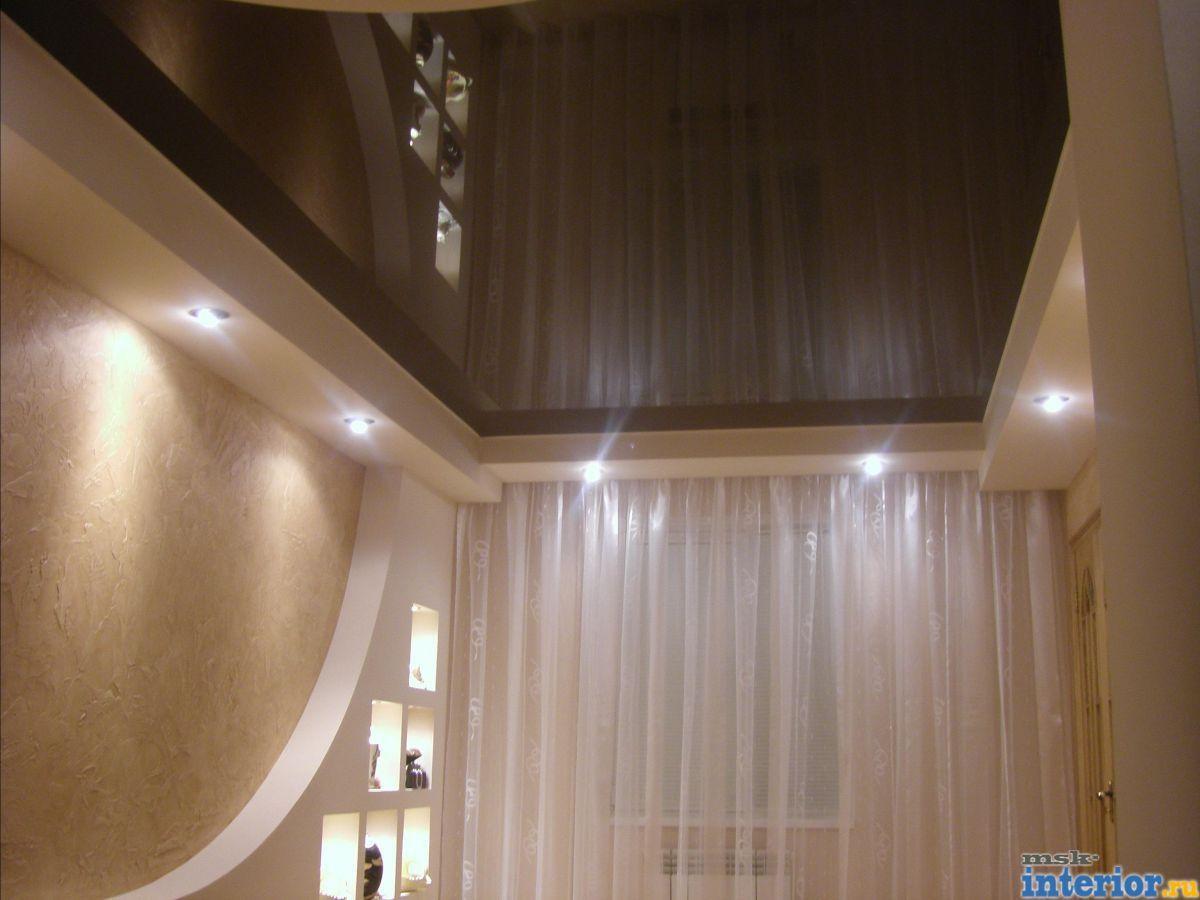 Дизайн потолков из гипсокартона и натяжных потолков
