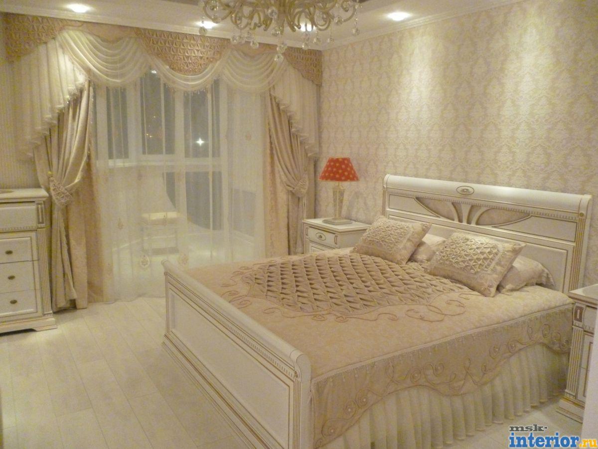 Красивые шторы и покрывала для спальни фото