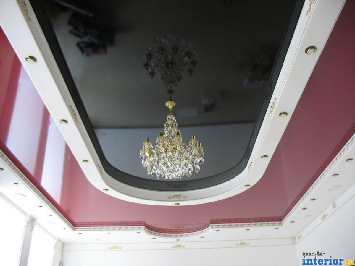 Дизайны подвесных и натяжных потолков