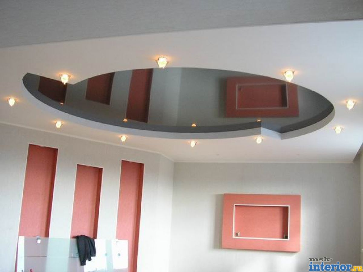 Фото дизайн потолков с гипсокартона и натяжных