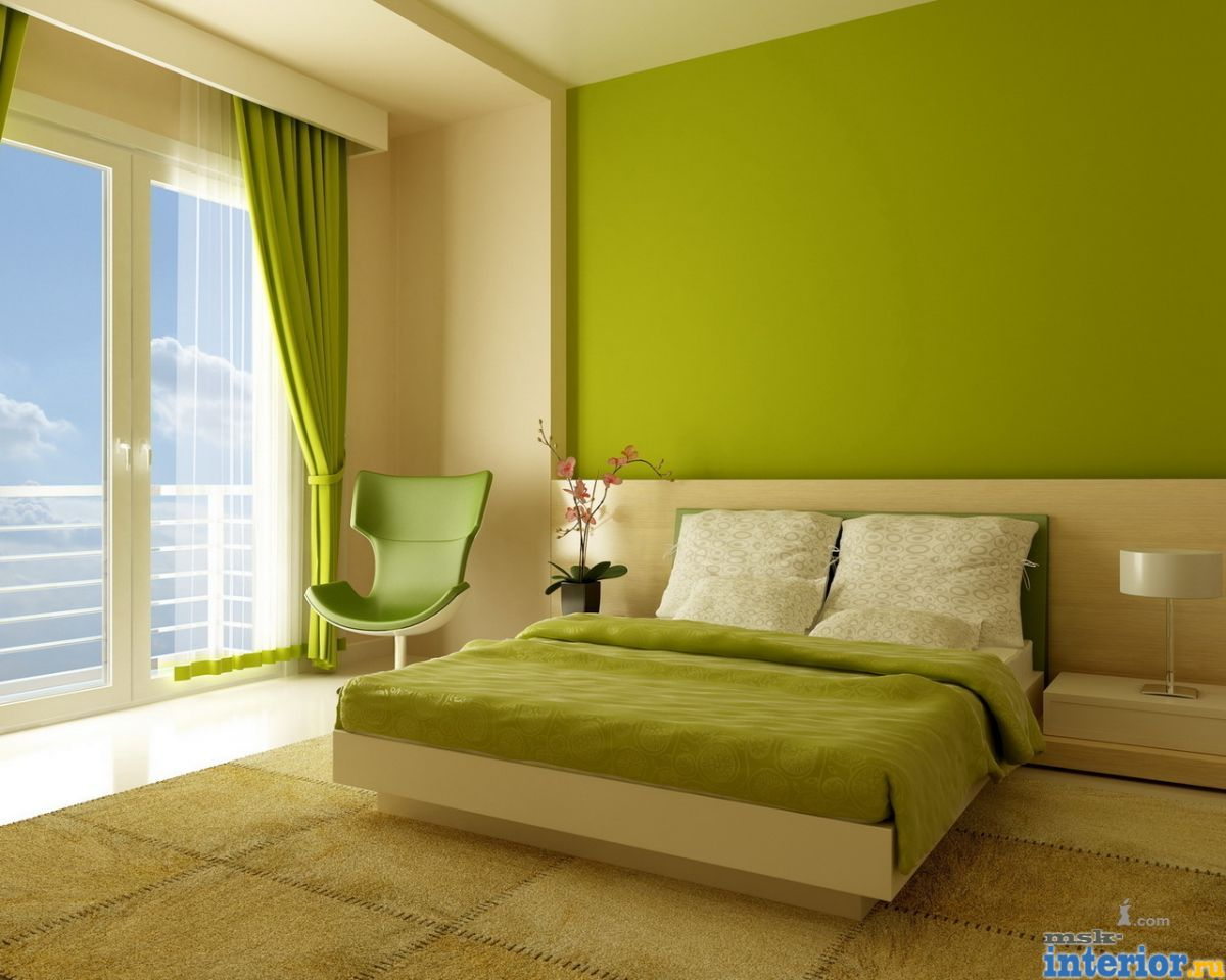Фото дизайн зеленых квартир