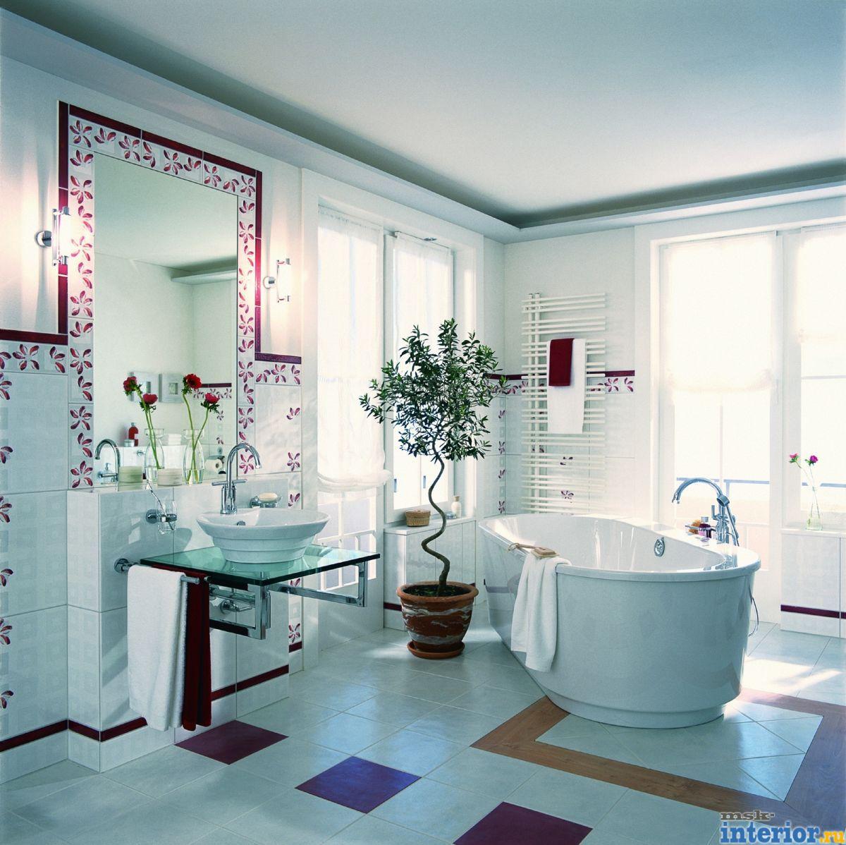 Ремонт дизайн ванной комнаты фото430
