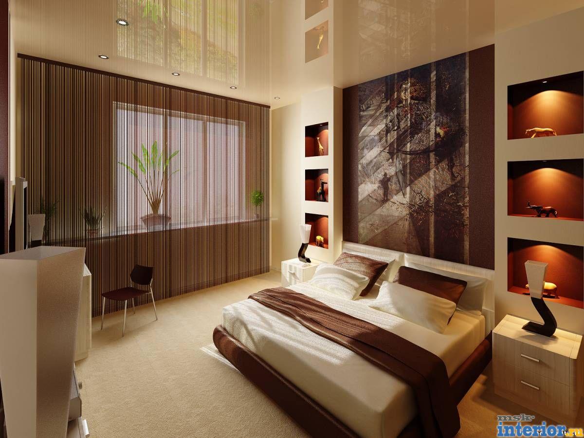 Дизайн стен из гипсокартона фото спальни