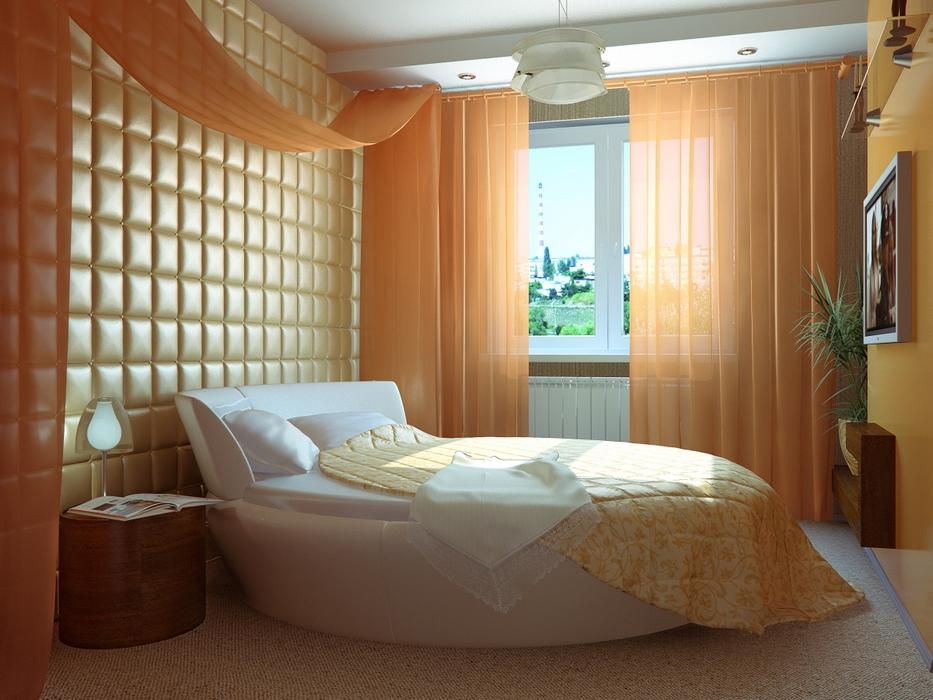 Дизайн спальни с круглой кроватью фото 2015 современные идеи