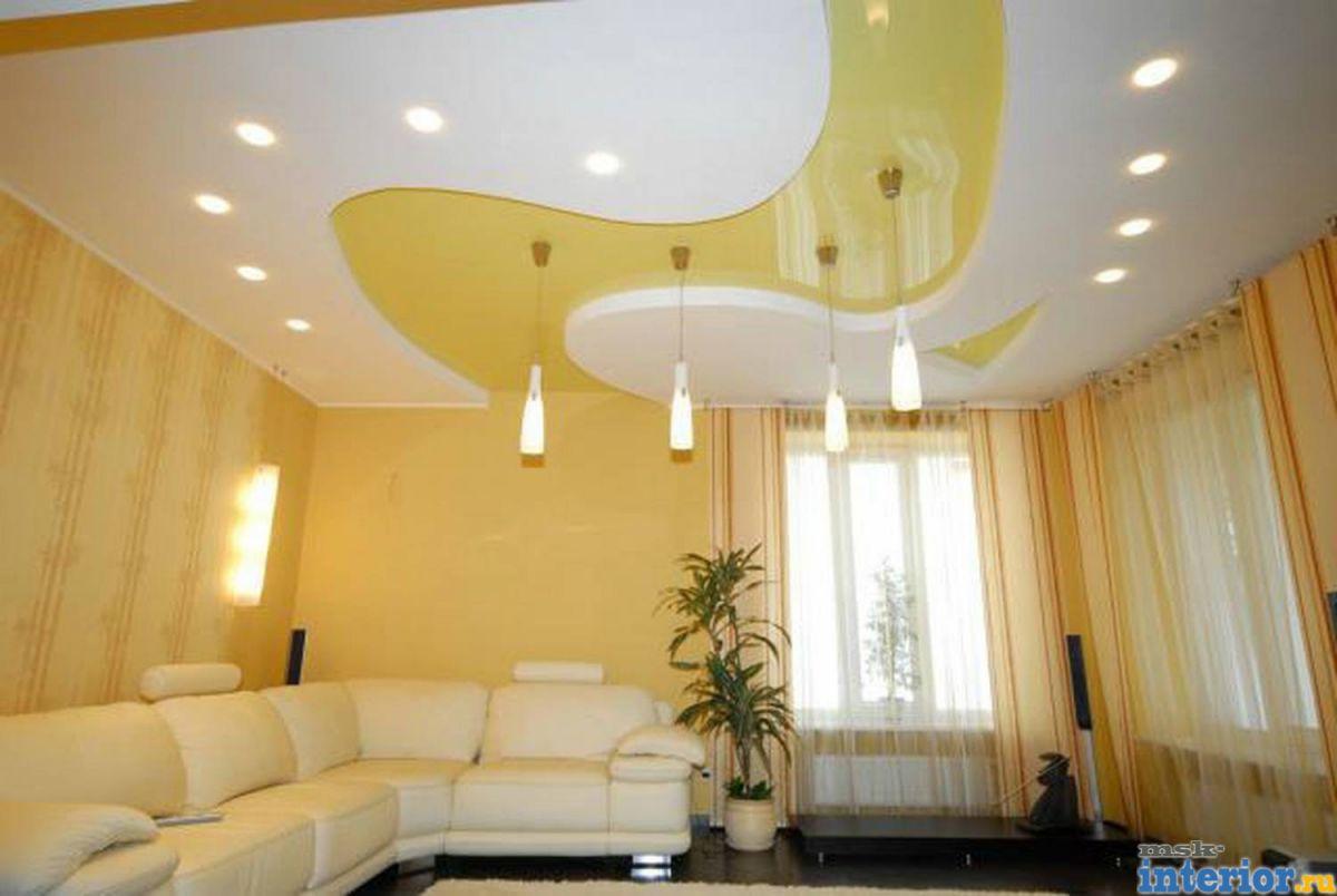 Ремонт подвесные потолки из гипсокартона и дизайн