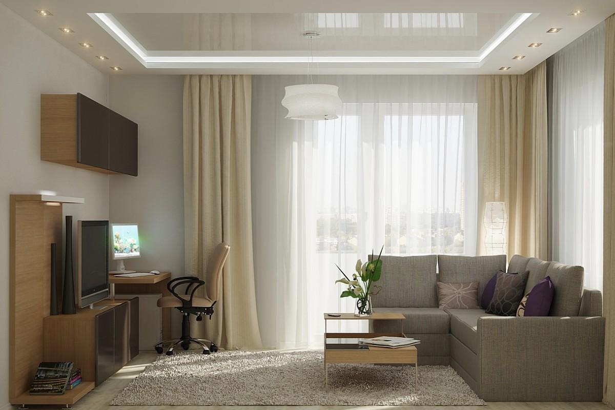 Стильный и современный дизайн квадратной гостинойtooran.