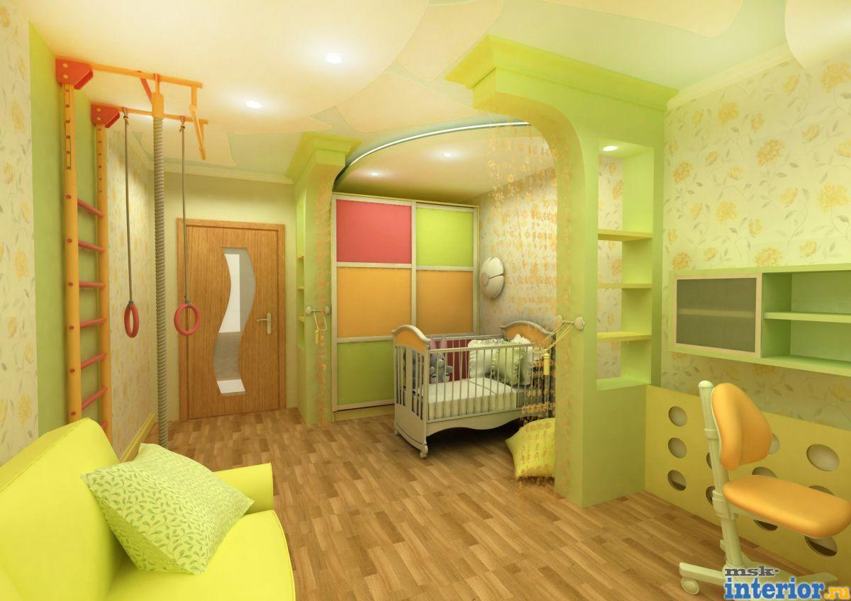 Дизайн интерьера детской комнаты фото - фотогалерея.